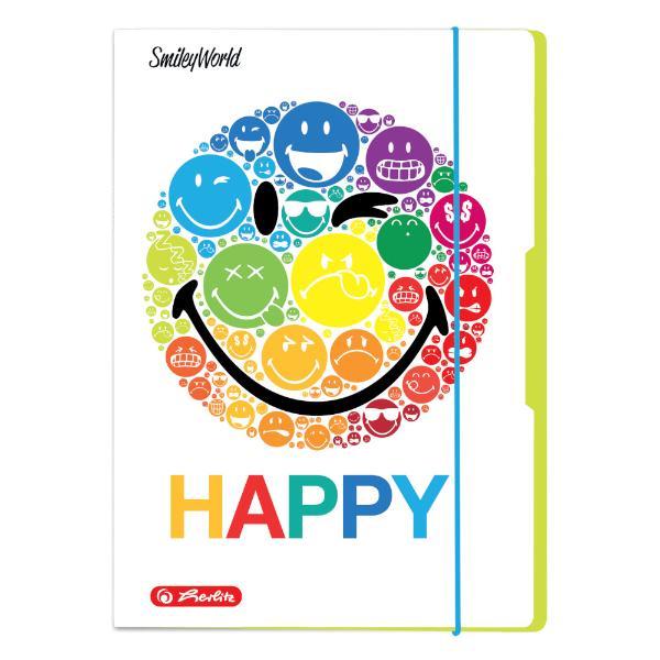 herlitz Zeichnungsmappe SmileyWorld Rainbow, DIN A4