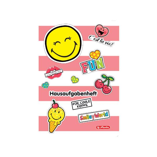herlitz Hausaufgabenheft SmileyWorld Girly, DIN A5