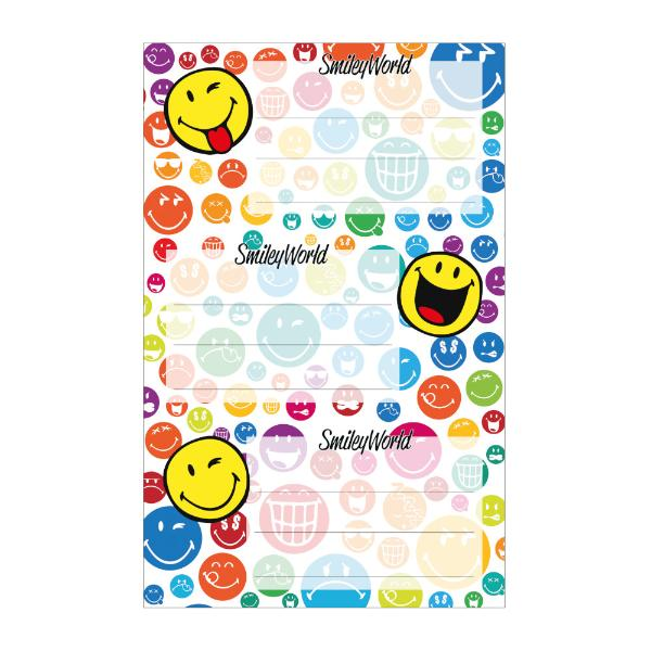 herlitz Buchetiketten SmileyWorld Rainbow, 80 x 42 mm