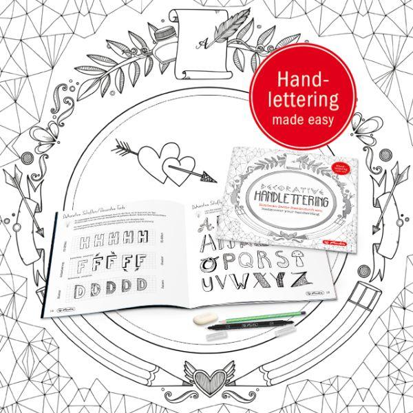 herlitz Übungsheft Decorative Handlettering, 24 Seiten