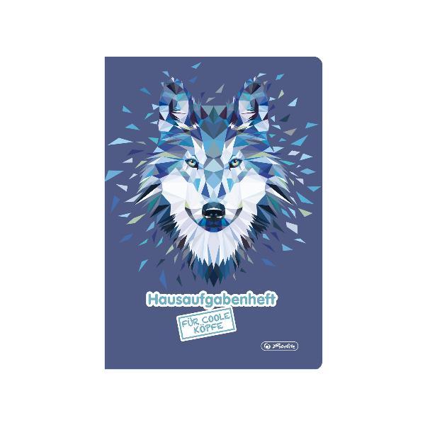 herlitz Hausaufgabenheft Wild Animals Wolf, A5, 48 Blatt