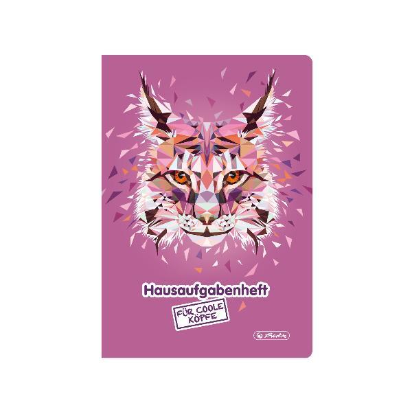 herlitz Hausaufgabenheft Wild Animals Luchs, A5, 48 Blatt