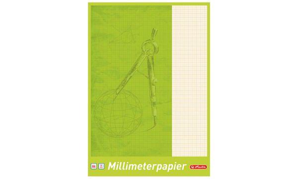 herlitz Millimeterpapier-Block DIN A3, 80 g/qm, 20 Blatt