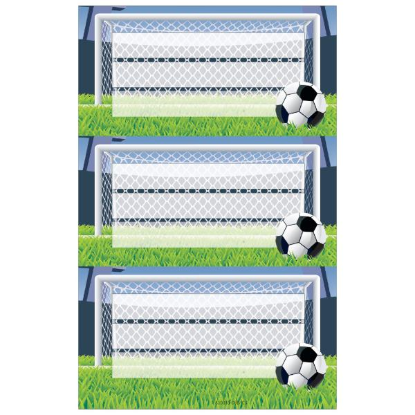 herlitz Buchetiketten Fussball, 78 x 42 mm