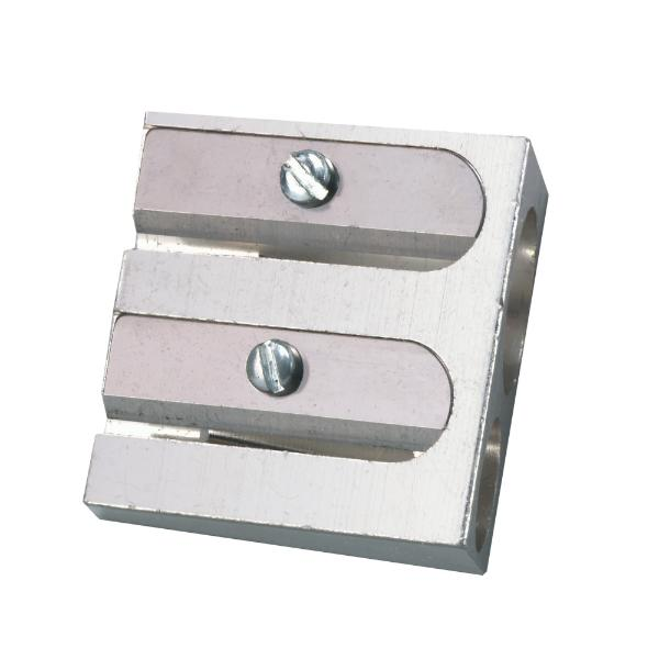 herlitz Doppel-Spitzer, aus Aluminium, Keilform