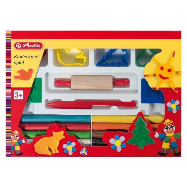 herlitz Kinderknete Spielset, 16-teilig