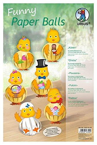 URSUS Designstreifen Funny Paper Balls Küken