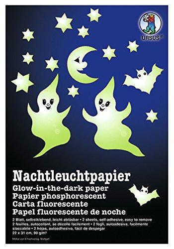 URSUS Nachtleuchtpapier, 220 x 310 mm, 90 g/qm