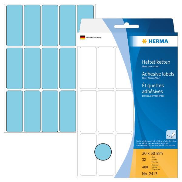 HERMA Vielzweck-Etiketten, 20 x 50 mm, blau, Großpackung