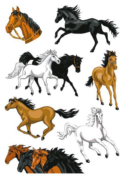 HERMA Sticker MAGIC Pferde, Stone glittery
