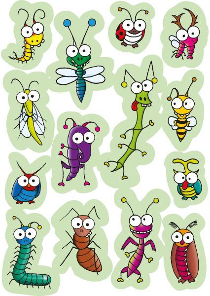 HERMA Sticker MAGIC lustige Insekten, Wackelaugen