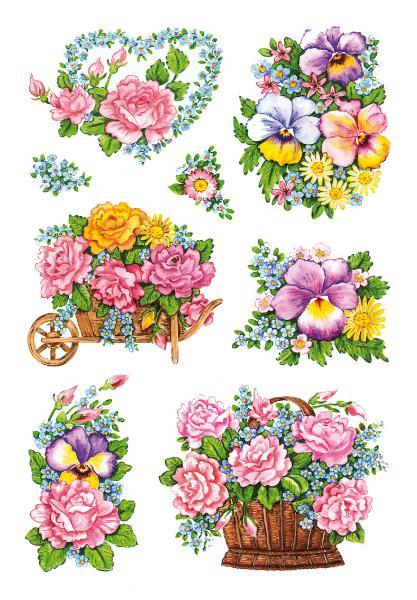HERMA Sticker DECOR Nostalgische Blumentöpfe