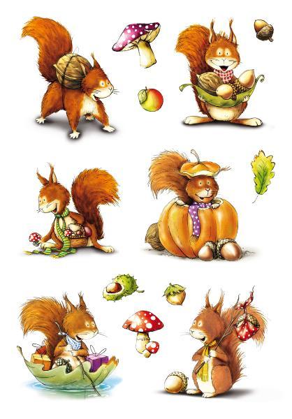 HERMA Sticker DECOR Eichhörnchen