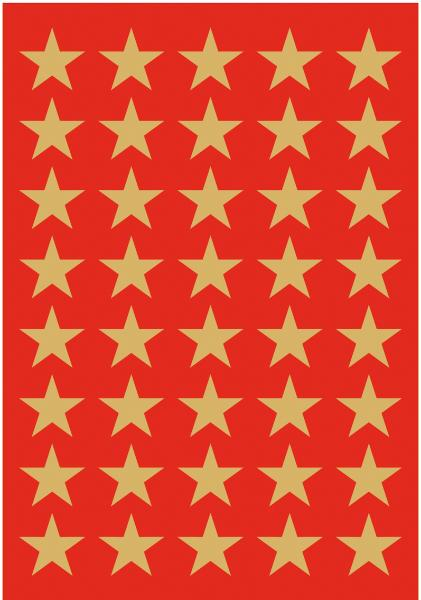 HERMA Weihnachts-Sticker DECOR Sterne, 13 mm, gold
