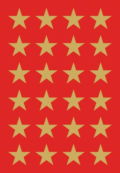HERMA Weihnachts-Sticker DECOR Sterne, 15 mm, gold