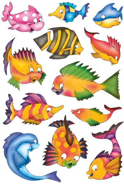 HERMA Sticker DECOR Bunte Fische