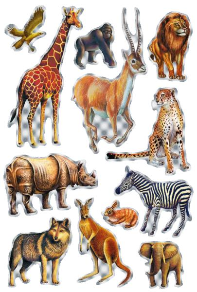 HERMA Sticker MAGIC Tiere Afrikas, Prismaticfolie