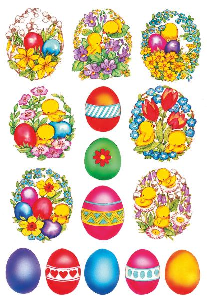HERMA Oster-Sticker DECOR Blumen & Küken