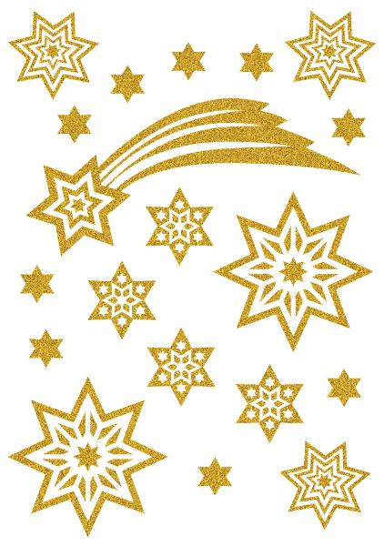 #10xHERMA Weihn.Schmucketikett Sterne