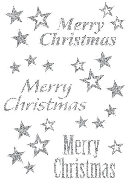 #10xHERMA Weihn.Sticker Merry Christma