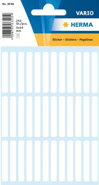 HERMA Vielzweck-Etiketten, 5 x 35 mm, weiß, Kleinpackung