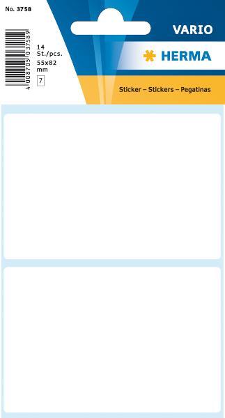 HERMA Vielzweck-Etiketten, 55 x 82 mm, weiß, Kleinpackung