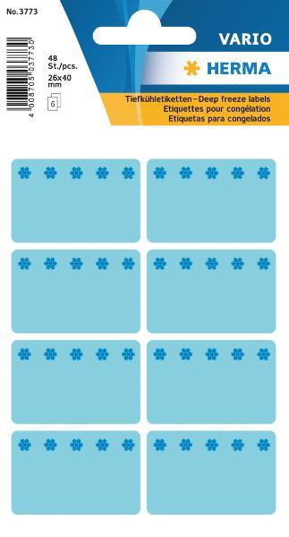 #10xTiefkühletikette 26x40 blau
