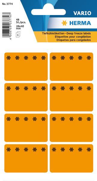 #10xTiefkühletikette 26x40 orange