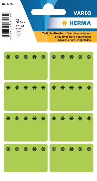 #10xTiefkühletikette 26x40 grün