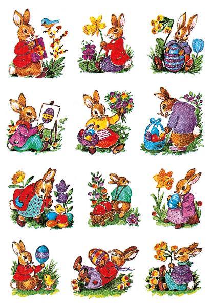 HERMA Oster-Sticker DECOR Hasen nostalgisch