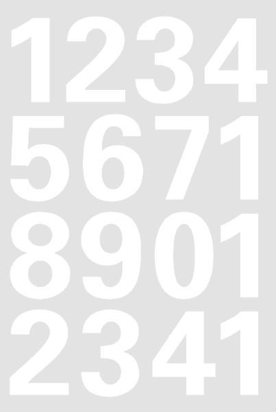 HERMA Zahlen-Sticker 0-9, Folie weiß, wetterfest