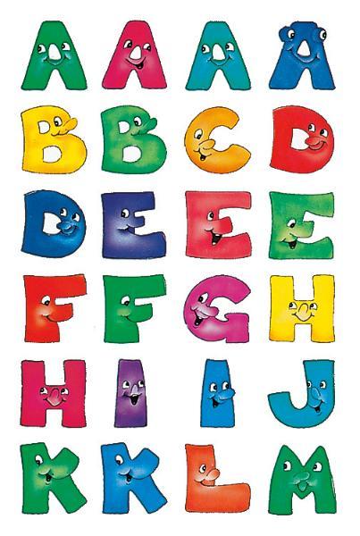 HERMA Buchstaben-Sticker A-Z, Papier, lustige Gesichter