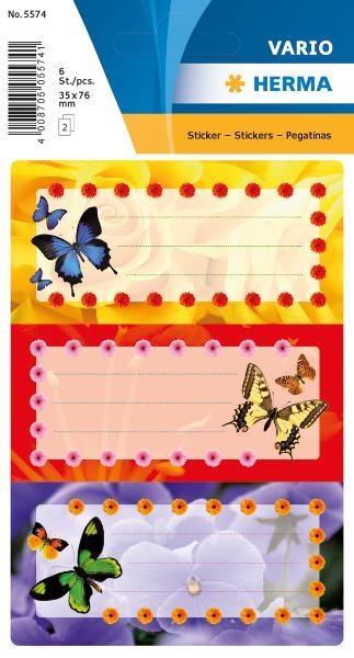 Heftschild Schmetterling 5574
