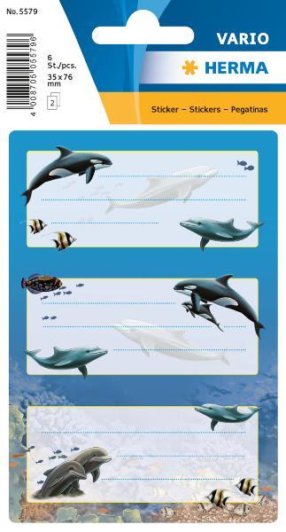 #10xBuchschild Delfine