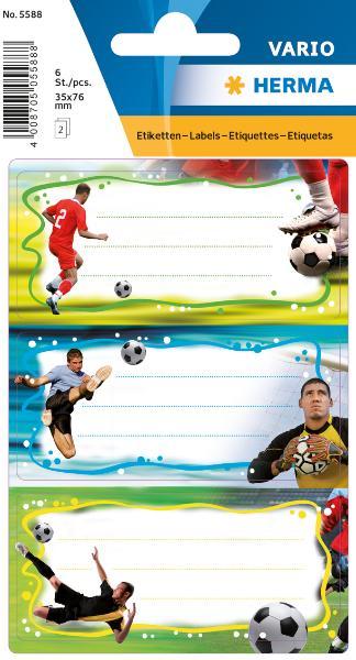 HERMA Buchetiketten Fußball, 76 x 35 mm