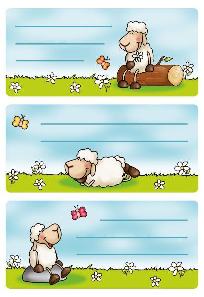#10xBuchschild Schafe