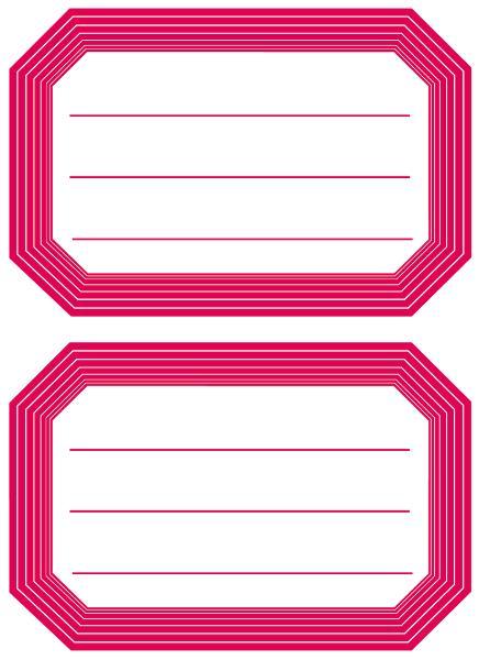 HERMA Buchetiketten, rote Randgestaltung, 82 x 55 mm