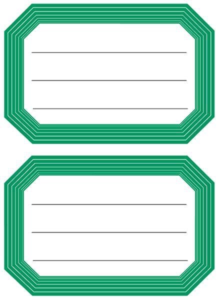 #10xBuchschild grüner Rand