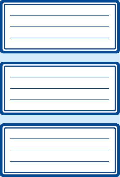 HERMA Buchetiketten, blaue Randgestaltung, 76 x 35 mm