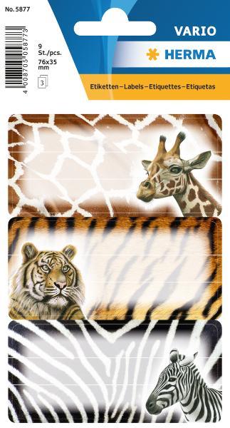 HERMA Buchetiketten Afrikanische Tiere, 76 x 35 mm