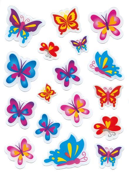 HERMA Sticker MAGIC Schmetterlinge, Stone