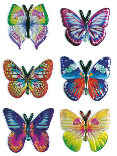 HERMA Sticker MAGIC Schmetterlinge, Stoff
