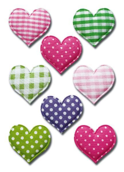 HERMA Sticker MAGIC Herzen, Stoff