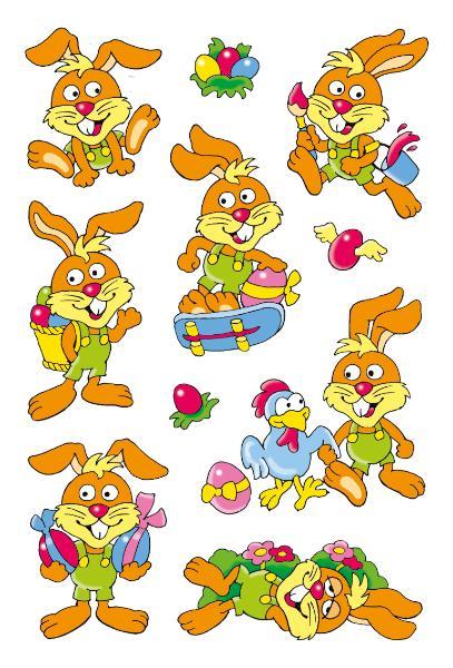 HERMA Oster-Sticker MAGIC Lustige Hasen, Wackelaugen