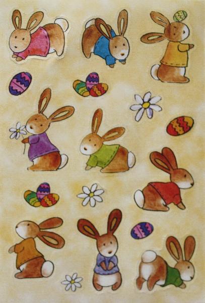 HERMA Oster-Sticker MAGIC Babyhäschen, Seide
