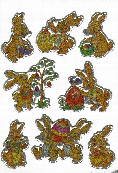 HERMA Oster-Sticker MAGIC Hasen, geprägt