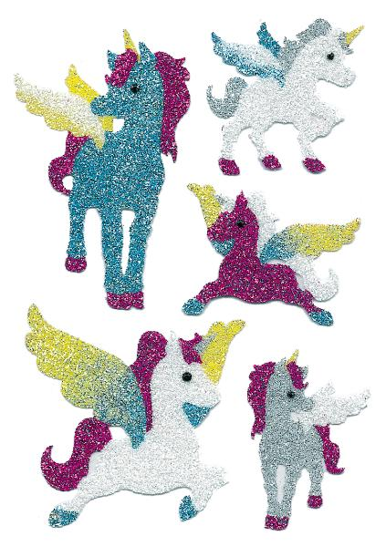 HERMA Sticker MAGIC Einhörner, Diamond glittery