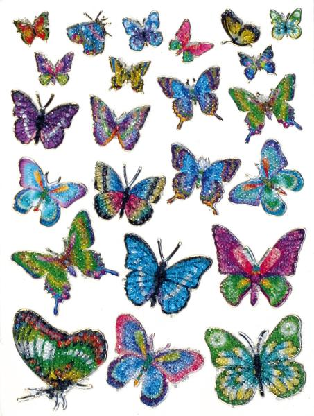 HERMA Sticker MAGIC Schmetterlinge, Kristall