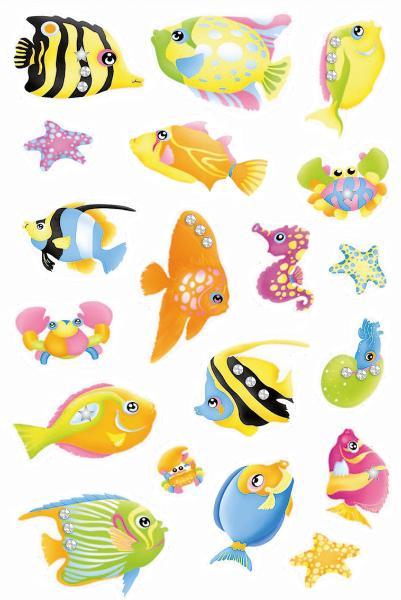 HERMA Sticker MAGIC Fische, Jewel