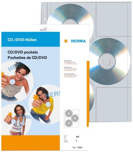 HERMA CD-/DVD-Prospekthülle für 6 CDs, A4, 306,5 x 233 mm